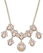 """I.N.C. Gold-Tone Stone & Crystal Teardrop Statement Necklace, 18"""" + 3"""" extender, Created for Macy's"""
