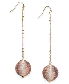 I.N.C. Two-Tone Wrapped Orb Linear Drop Earrings, Created for Macy's