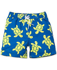 Little Me Graphic-Print Swim Trunks, Baby Boys