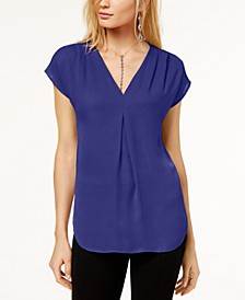 INC Petite Pleated Top, Created for Macy's