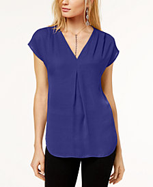 I.N.C. Petite Pleated Top, Created for Macy's
