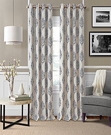 Elrene Navara Medallion Blackout Linen Window Panel Collection
