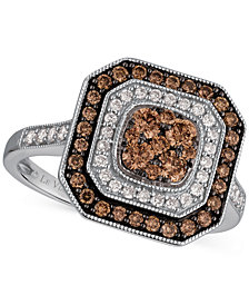 Le Vian Chocolatier® Deco Estate Collection™ Diamond Ring (3/4 ct. t.w.) in 14k White Gold