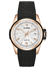 Citizen Drive From Citizen Eco-Drive Women's Black Silicone Strap Watch 38mm