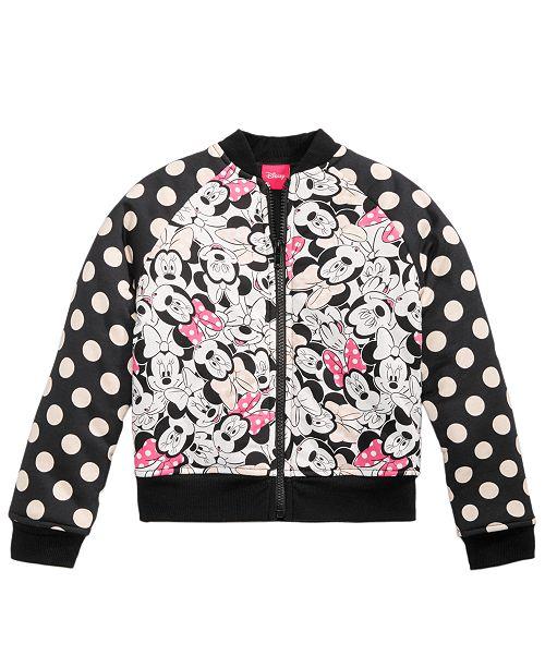 02f961b5e Disney Minnie Mouse Bomber Jacket, Little Girls & Reviews - Coats ...