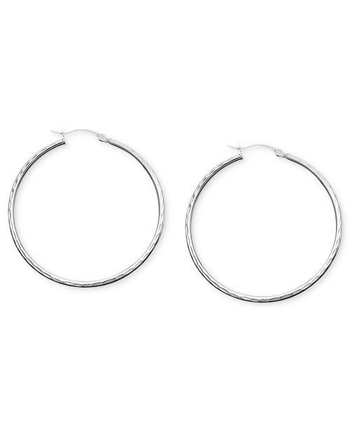 1c0d8e5b3 Giani Bernini Sterling Silver Diamond Cut Hoop Earrings, 2 ...