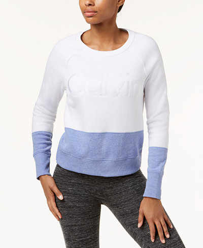 Calvin Klein Performance Colorblocked Fleece Top