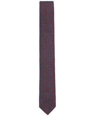 BOSS Men's Microdot Silk Slim Tie