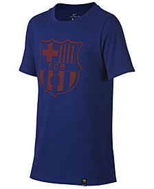 Nike FC Barcelona Crest T-Shirt, Big Boys