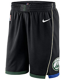Nike Men's Milwaukee Bucks Statement Swingman Shorts