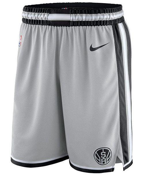 d8ee5145 Nike Men's San Antonio Spurs Statement Swingman Shorts & Reviews ...