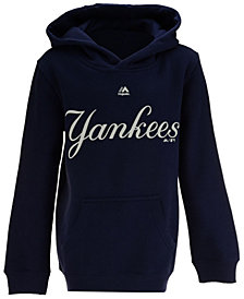 Majestic New York Yankees Wordmark Hoodie, Big Boys (8-20)