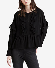 Levi's® Carly Pintucked & Ruffled Top