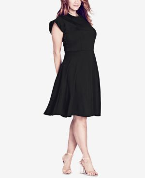 Lady Valerie Fit & Flare Dress, Black