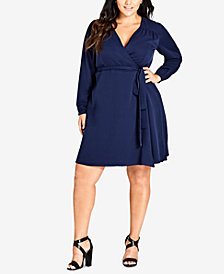 City Chic Trendy Plus Size Wrap Dress
