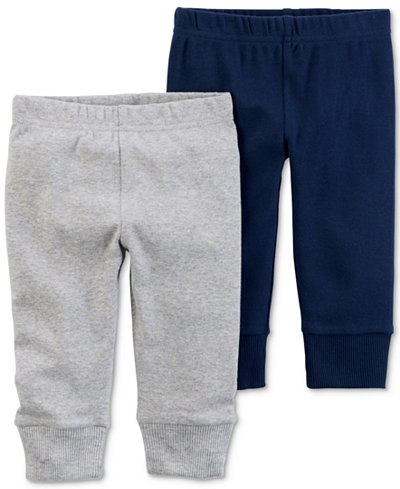 Carters Little Planet Organics 2-Pack Cotton Jogger Pants, Baby Boys