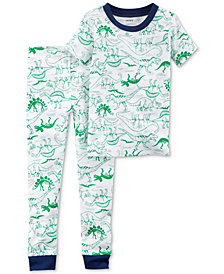 Carter's 2-Pc. Dino-Print Cotton Pajamas, Baby Boys