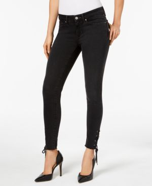 711 LACE-UP SKINNY JEANS