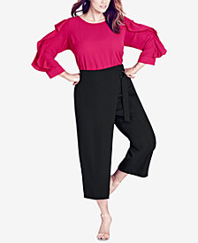 City Chic Trendy Plus Size Cropped Wrap Pants