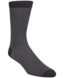 Cole Haan Men's Piqué Knit Textured Crew Socks