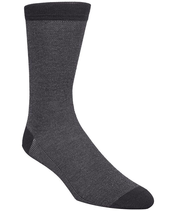 Cole Haan - Men's Piqué Knit Textured Crew Socks