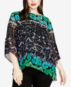 Rachel Roy TRENDY PLUS SIZE PRINTED TOP, CREATED FOR MACY'S