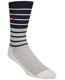 Cole Haan Men's Striped Sail Boat Crew Socks