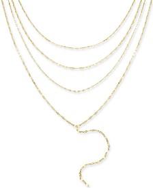 "Thalia Sodi Gold-Tone Multi-Layer Choker Lariat Necklace, 16""+ 3"" extender, Created for Macy's"