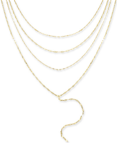 Thalia Sodi Gold-Tone Multi-Layer Choker Lariat Necklace, 16