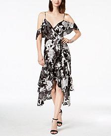 Bardot Floral Printed Off-The-Shoulder Midi Dress