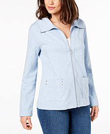 Karen Scott Zip-Up Active Jacket, Created for Macy's