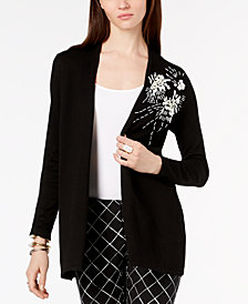 Alfani Embellished Long Cardigan, Created for Macy's