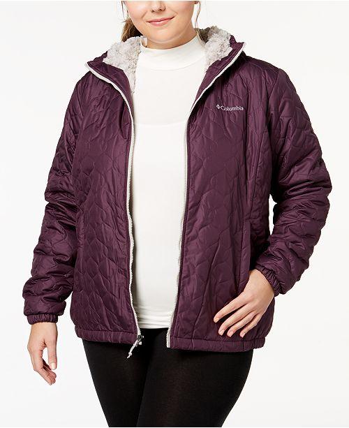 bebd0d0f128 Columbia Plus Size Bella Plush Hooded Jacket   Reviews - Jackets ...
