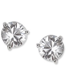 Earrings, Solitaire Crystal Stud
