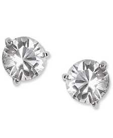 Swarovski Earrings, Solitaire Crystal Stud