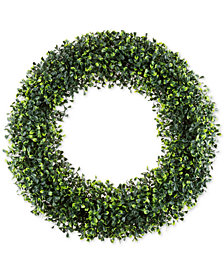 "Pure Garden Faux Boxwood 19.5"" Round Wreath"