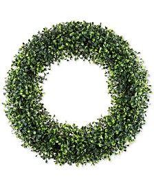 "Pure Garden Faux Boxwood 19.5"" Round Wreath"