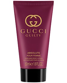 Receive a Complimentary Body Lotion with any large spray purchase from the Gucci Guilty fragrance collection