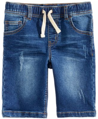 Denim Knit Shorts, Little Boys, Created for Macy's