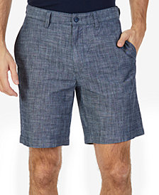 "Nautica Men's Classic-Fit Chambray 8.5"" Deck Shorts"