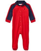 d3c00da30d52 Ralph Lauren Baby Boys Shawl-Collar Coverall