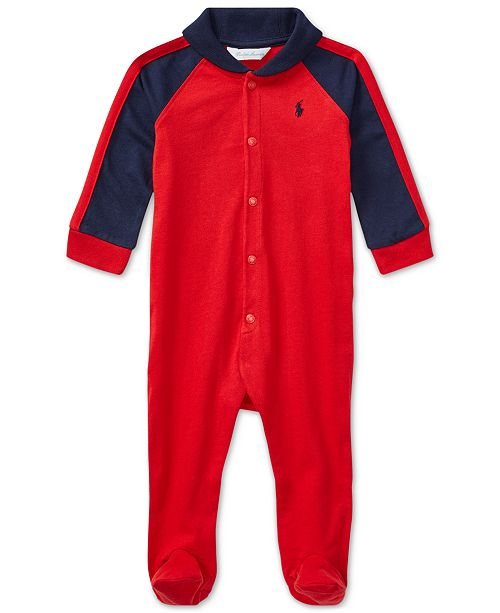 2af4bcd33 Polo Ralph Lauren Ralph Lauren Baby Boys Shawl-Collar Coverall ...