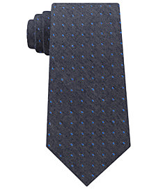 Calvin Klein Men's Gray Denim Dot Tie