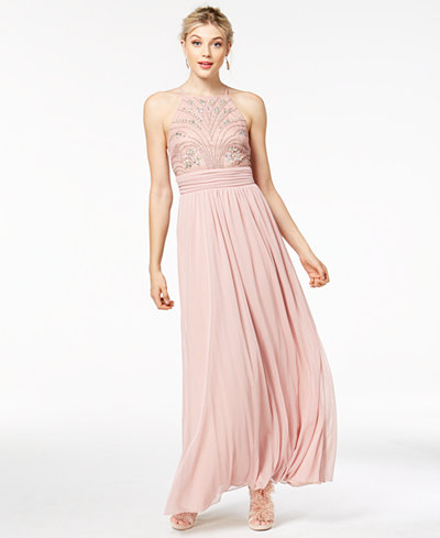 Speechless Juniors' Beaded Chiffon Gown, Created for Macy's