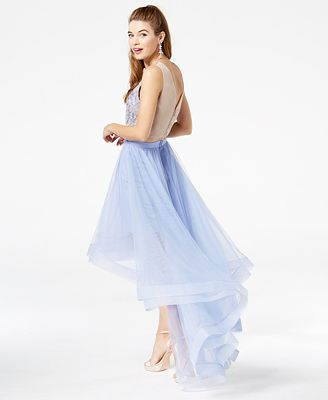 Say Yes To The Prom Juniors High Low Popover Gown Created For