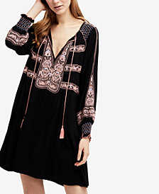 Free People Wind Willow Mini Peasant Dress