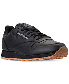 Reebok Men's Classic Leather Casual Gum KL Sneakers from Finish Line