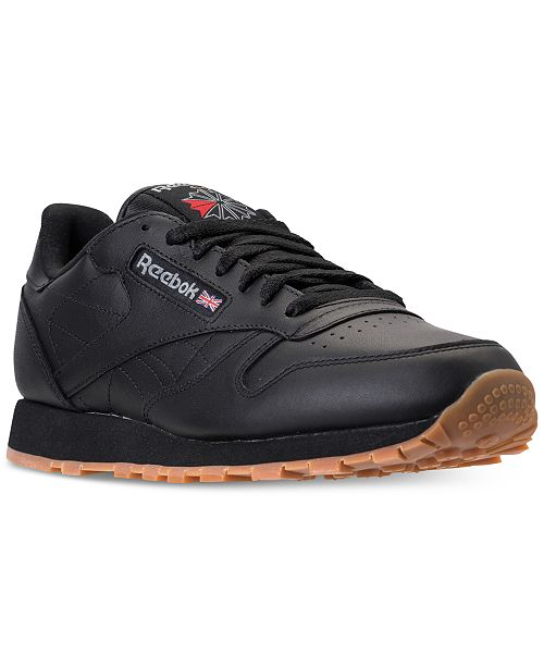 a4014ff279a ... Reebok Men s Classic Leather Casual Gum KL Sneakers from Finish ...