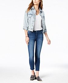 Kristen Mid-Rise Cropped Skinny Jeans with Cut-Off Hem, Created for Macy's