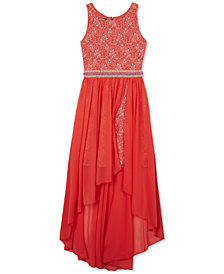 BCX Maxi-Overlay Dress, Big Girls